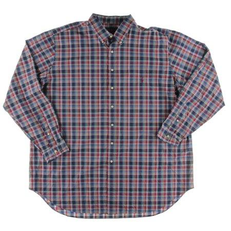 Polo Ralph Lauren Mens Big & Tall Plaid Poplin Button-Down Shirt ...