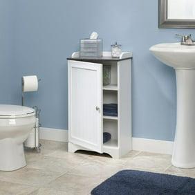 Wooden Bathroom Floor Cabinet Wooden Free Standing Storage Organizer W 4 Drawers White