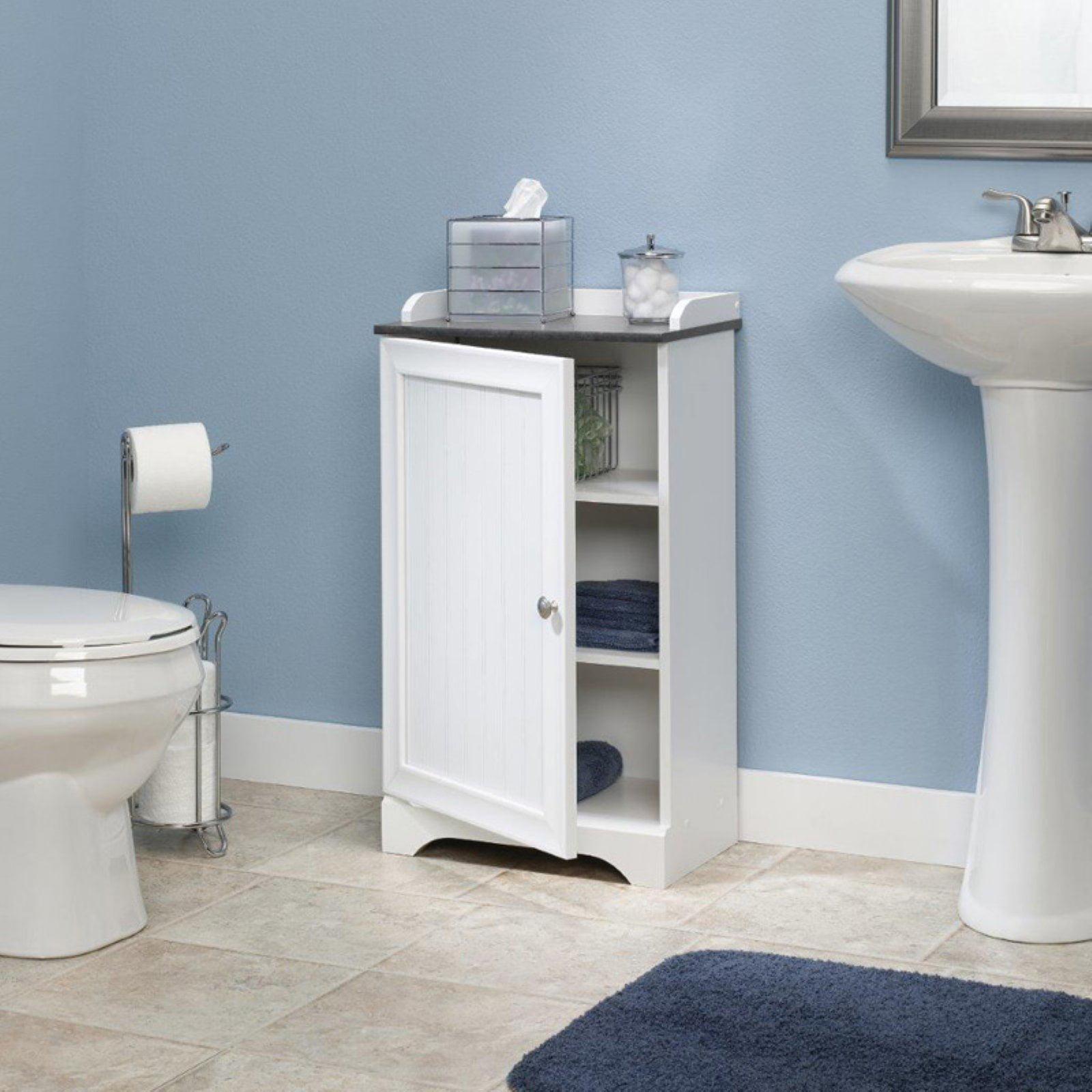Sauder Caraway Floor Cabinet, Soft White Finish