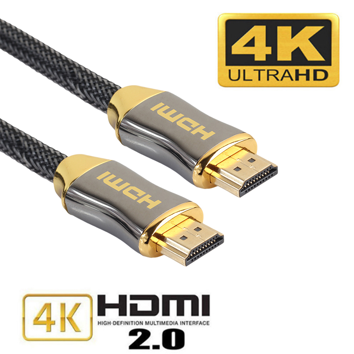 6FT Premium Ultra HD HDMI Cable v2.0 High Speed Ethernet LCD HDTV 2160p 4K USA