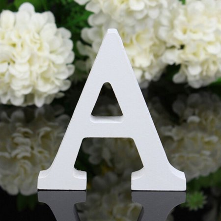 8x5x1.2cm New A-Z Wooden Wood Letters Alphabet Word Free Standing Wedding Party Home