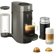 Nespresso VertuoPlus Coffee and Espresso Maker Bundle with Aeroccino Milk Frothier by De'Longhi, Grey