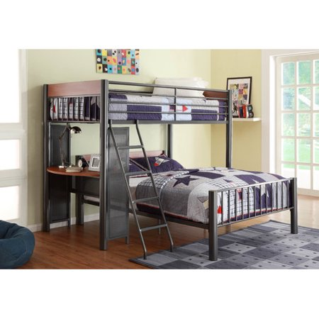 Harriet Bee Division Twin Over Full L Shaped Bunk Bed