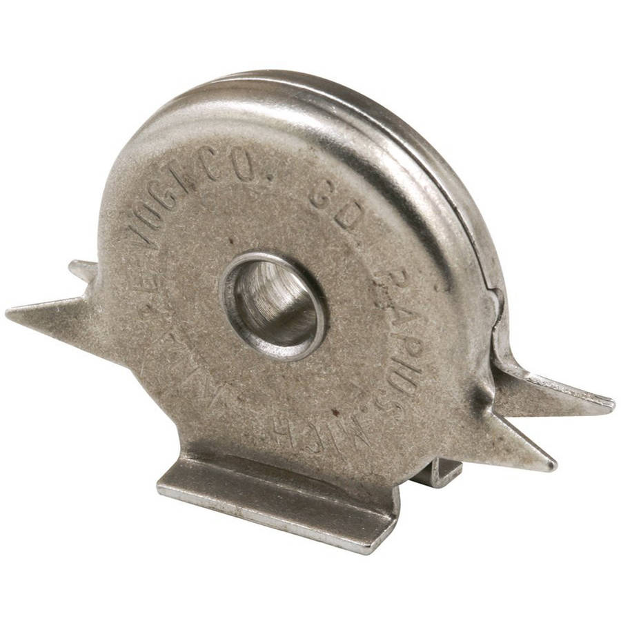 Slide-Co 16767 Closet Door Roller, Flat Steel Ball Bearing Wheel, Drive-In Housing, 2pk