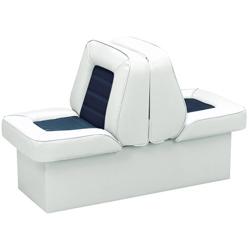 Wise 8WD505P-1-924 Bucket Style Lounge Boat Seat, White-Navy