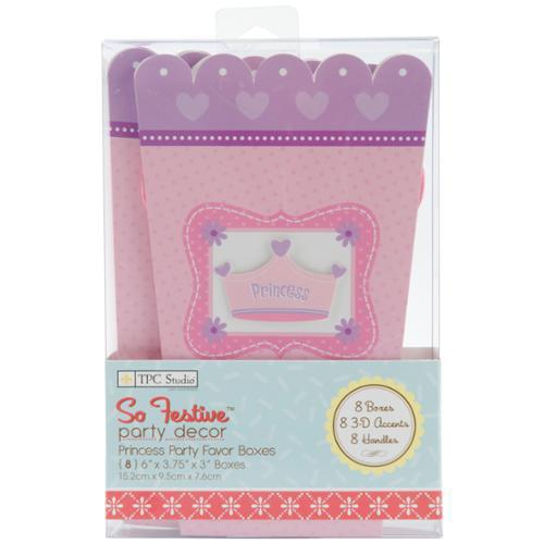 Favor Box Kits Makes 8-Princess