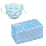 100 Disposable Face Masks, 3-ply Breathable Dust Protection Masks, Elastic Ear Loop Filter Mask