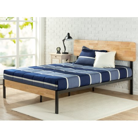 Zinus Olivia Metal Wood Platform Bed With Wood Slat Support