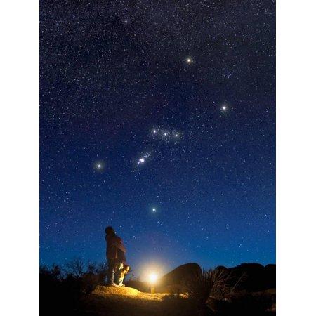 Orion Wall Decor - Star Gazers Observing Orion Print Wall Art By David Nunuk