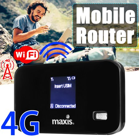 Portable Router 4G/3G Wifi Wireless Router Mobile Broadband Hotspot SIM Card Slot 150Mbps Unlocked B1/B3, (3g Wireless Router With Sim Card Slot)