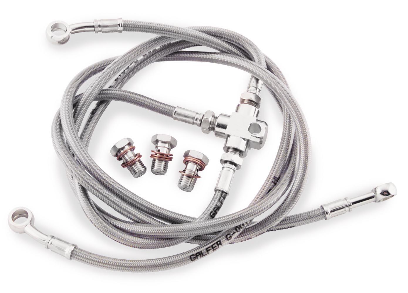 Galfer Brakes +4in. Brake Line Kit, FK003D145R+4