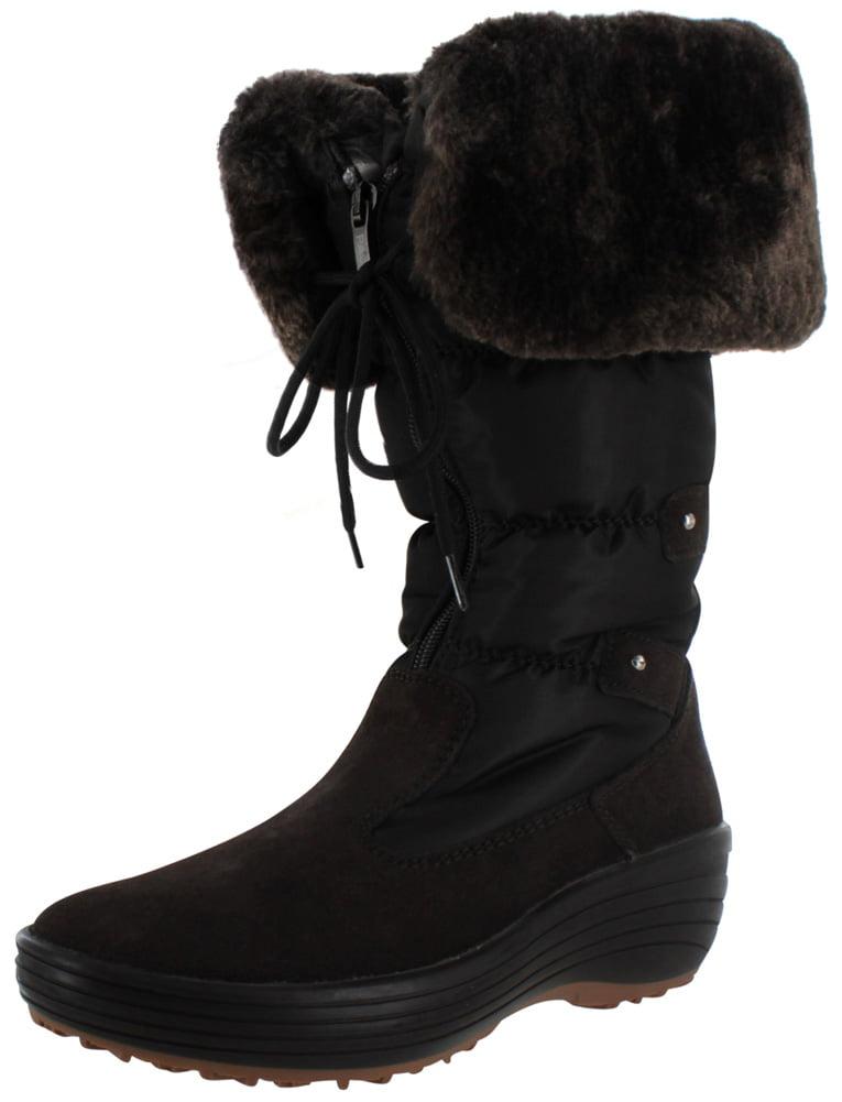 Pajar Mia Women's Nylon Snow Boots Faux Fur Lined Waterproof by