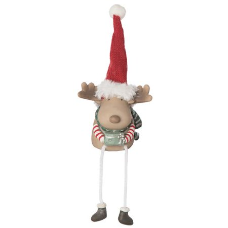 - The Holiday Aisle Aaron Resin Merry Fur Boot Reindeer Shelf Sitter