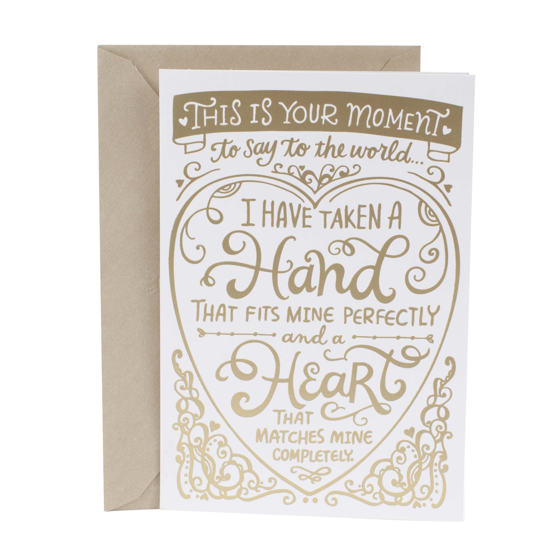 Hallmark Invitations Wedding: Hallmark Mahogany, Gold Lettering, Wedding Greeting Card