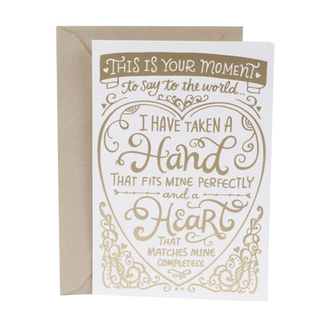 Hallmark Mahogany Wedding Card (Gold Lettering) - Box For Wedding Cards
