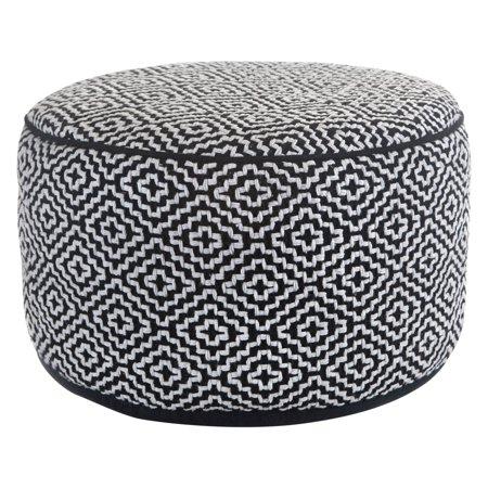 Super Maison Black White 20 Round Ottoman Pouf Uwap Interior Chair Design Uwaporg