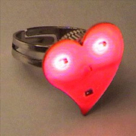 Funky Heart Ring Flashing Body Light Lapel Pins