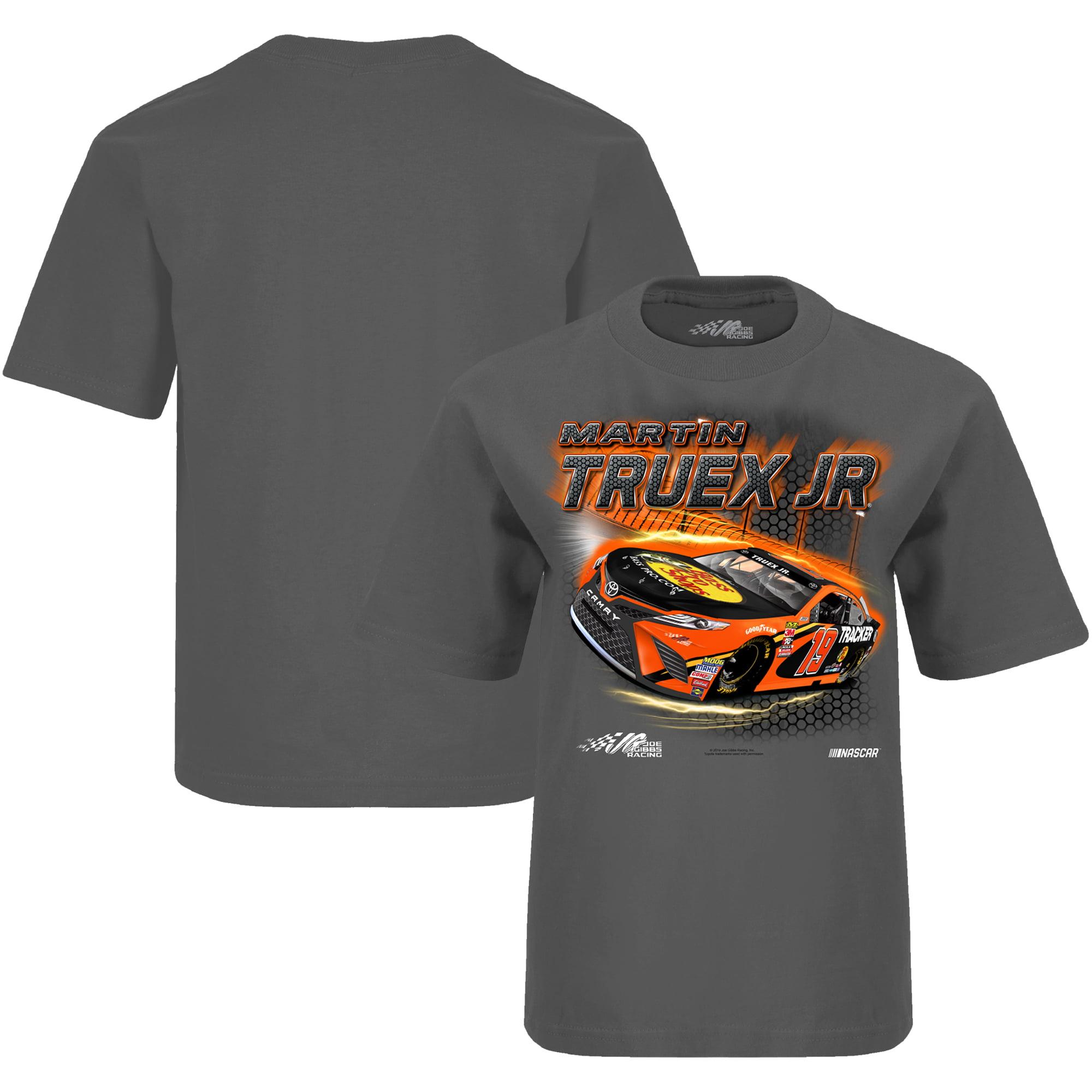 Martin Truex Jr Joe Gibbs Racing Team Collection Youth Ultimate Car T-Shirt - Charcoal