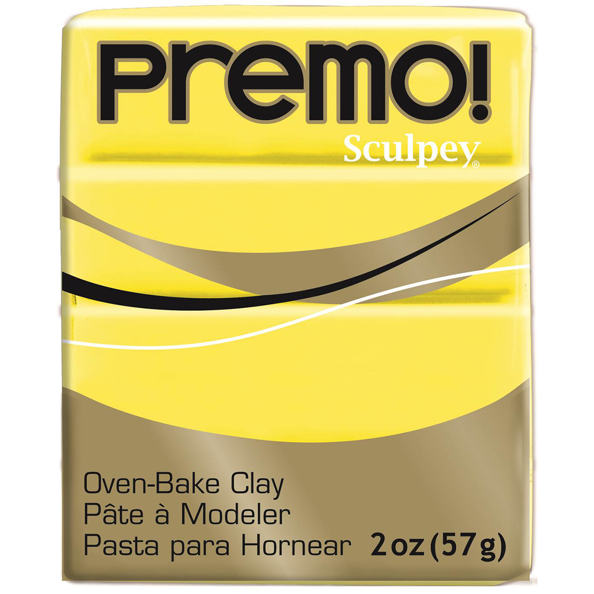 Premo Sculpey Polymer Clay 2oz-Zinc Yellow Hue