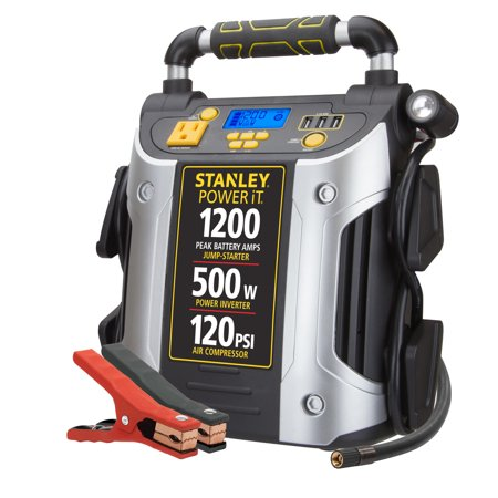 STANLEY 1200A Peak Jump Starter/Power Station w/500 watt inverter (Ultimate Speed Portable Jump Starter With Power Bank)