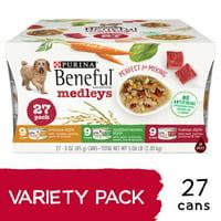 Purina Beneful Wet Dog Food Variety Pack; Medleys Tuscan, Romana & Mediterranean Style (Various Sizes)