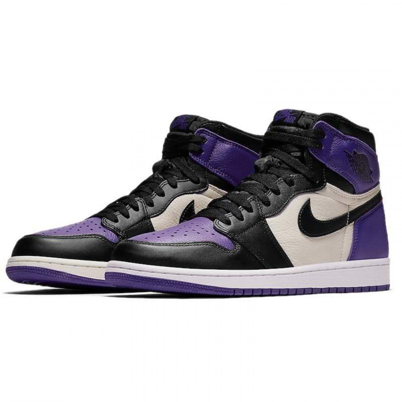 Mens Air Jordan 1 Retro High OG Court Purple Sail Black 555088-501 - Walmart.com