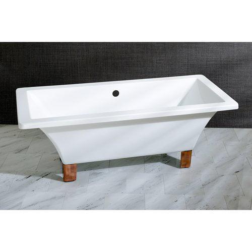 Kingston Brass Aqua Eden 71'' x 32'' Freestanding Soaking Bathtub