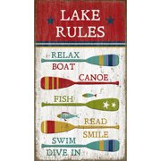 Red Horse Arts Lake Rules Wall D cor