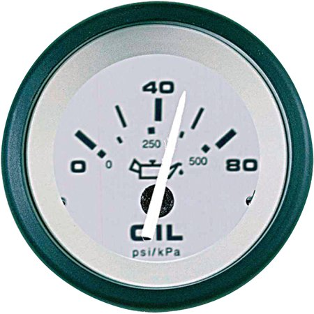 Sierra 61550P Driftwood Series 2  Black And Gray 0 80 Psi Dial Range Electric Oil Pressure Gauge And Requires  C  Sender Code