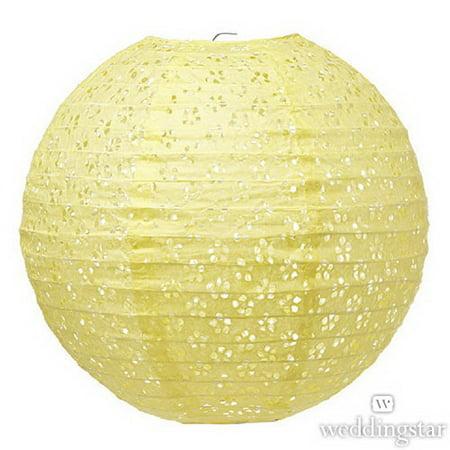 Weddingstar 43004-09 Large Eyelet Paper Lantern - Light Yellow](Large Paper Lanterns)