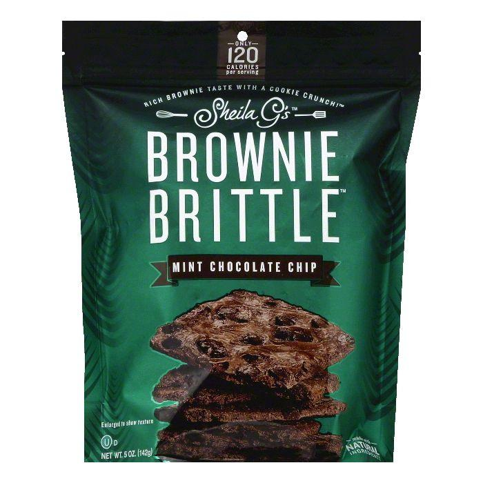 Sheila Gs Mint Chocolate Chip Brownie Brittle, 5 OZ (Pack of 12)