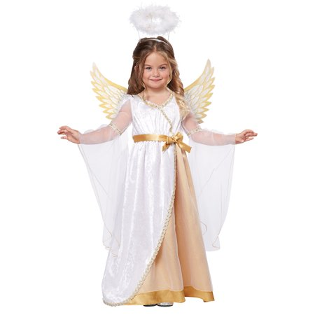 Sweet Little Angel Girls' Toddler Halloween Costume (Cute Big Brother Little Sister Halloween Costumes)