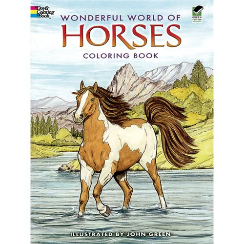 Dover Publications-Wonderful World Of Horses Coloring Book