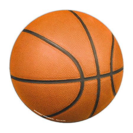Magnetic Bumper Sticker - Basketball (Basket Ball) - Cars, Trucks, Lockers, Refrigerators - 5.5