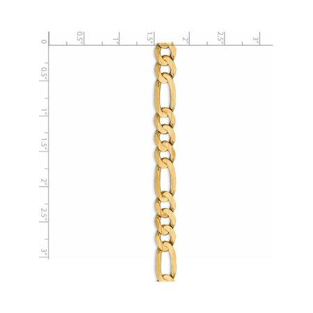 Leslies 10K 7.5mm or jaune Concave cha?ne Figaro - image 4 de 5