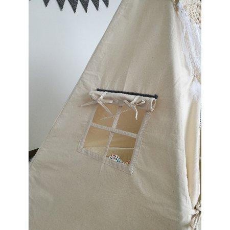 Large Teepee Cotton Playhouse Kids Children Tent WIGWAM Indoor Outdoor Camping  - image 1 de 9