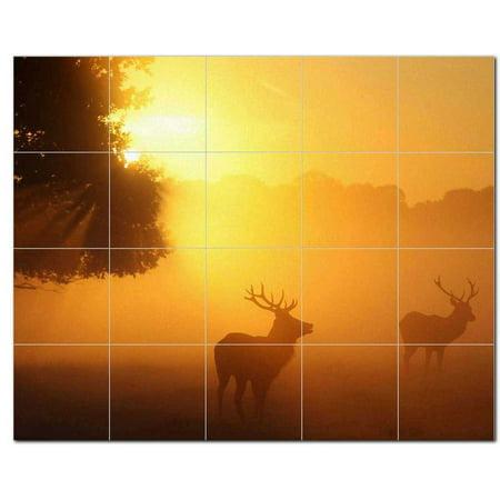 Deer Picture Ceramic Tile Mural Kitchen Backsplash Bathroom Shower 404