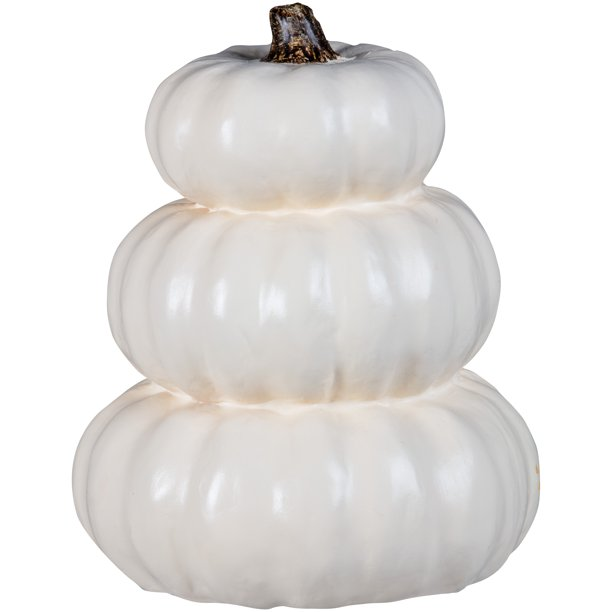 Way to Celebrate Halloween White Pumpkin Trio Decoration (14 in)
