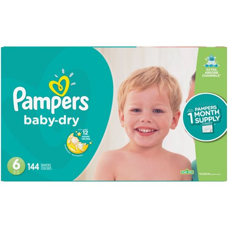 Pampers Baby-Dry Diapers Size 6 144 Count (Diaper Drawing)