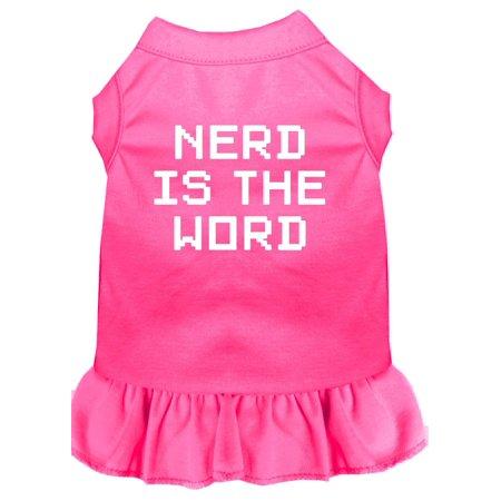 Nerd Is The Word Screen Print Dress Bright Pink Xl (16)