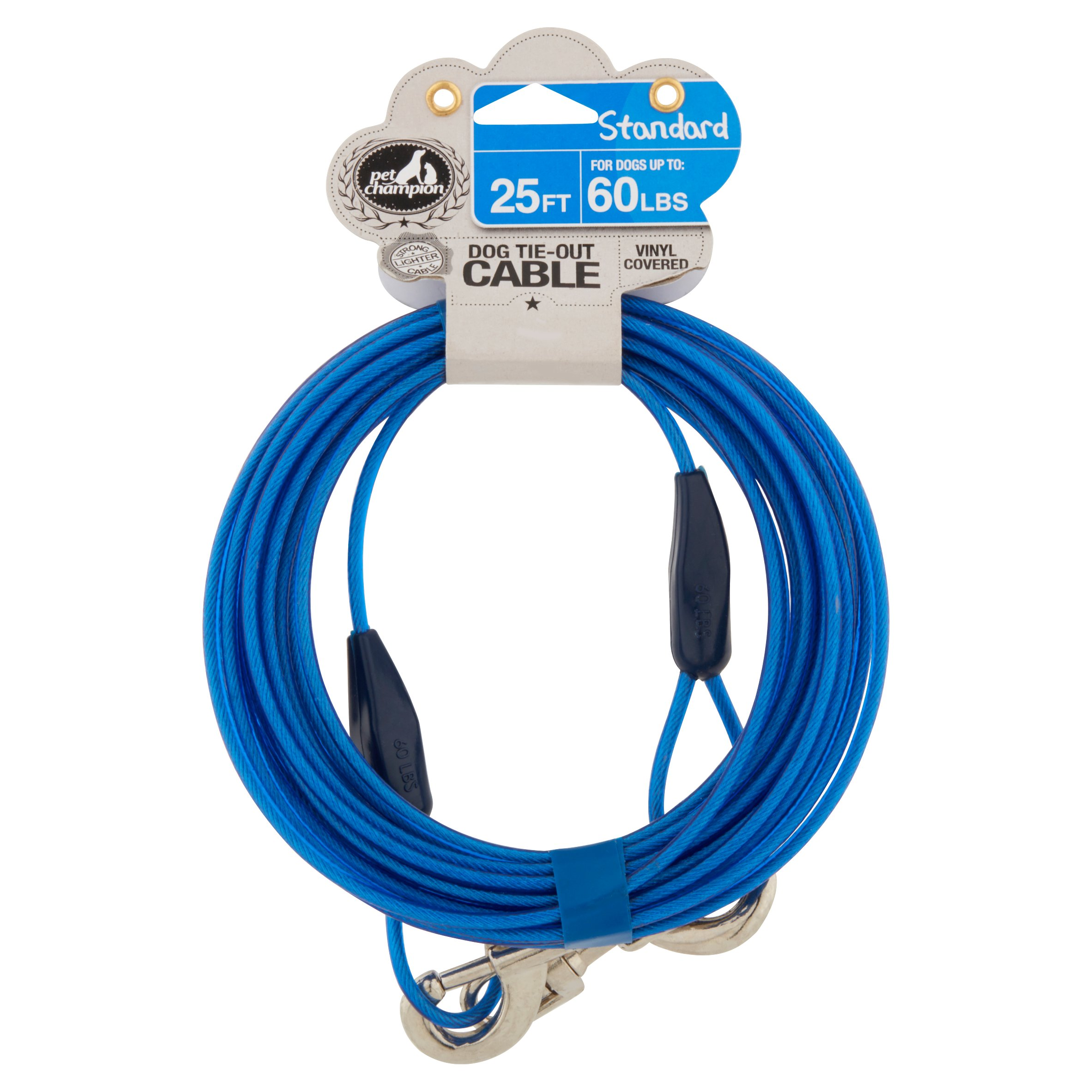 Pet Champion 25 ft Standard Dog Tie-Out Cable