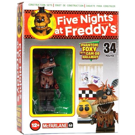 McFarlane Five Nights at Freddy's Phantom Foxy with Cam 08 Hallway Micro  Figure Build Set