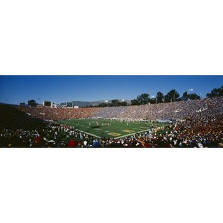 High angle view of spectators watching a football match in a stadium Rose Bowl Stadium Pasadena California USA Canvas Art - Panoramic Images (18 x 6)