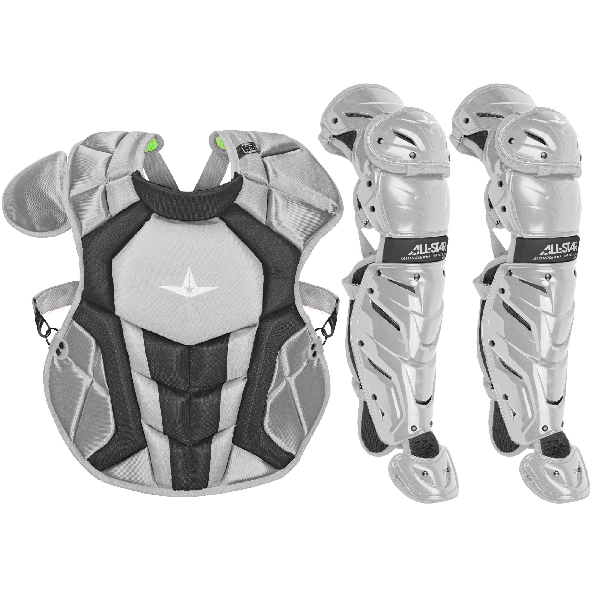 All-Star System7 Axis NOCSAE Youth Baseball Catcher's Gear Set