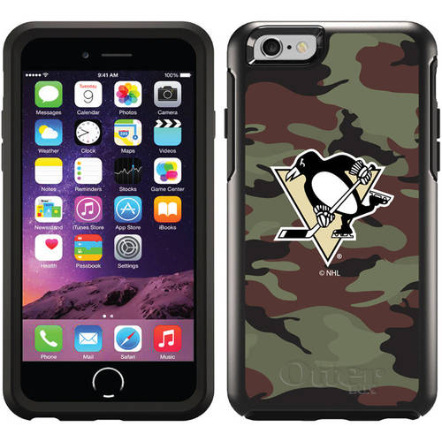 Pittsburgh Penguins Traditional Camo Design on OtterBox Symmetry Series Case for Apple iPhone 6