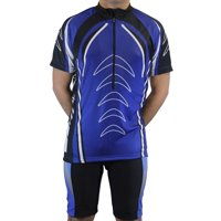 Men's Cool Plus Sublimated Print Race Cut Short-Sleeve Biking Cycling Jersey