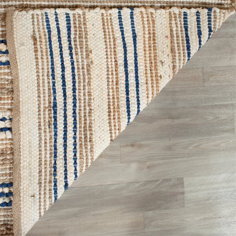 Safavieh Cape Cod 8' X 10' Hand Woven Rug in Natural and Blue - image 6 de 8