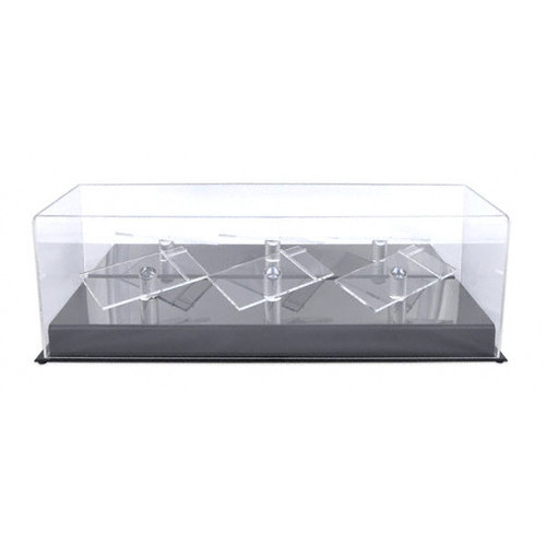 1/24th Three Car Die Cast Display Case with Platforms
