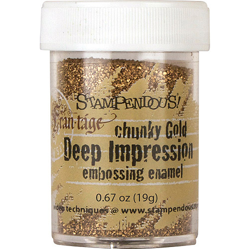 Stampendous Frantage Deep Impression Embossing Enamel .67oz-Chunky Gold