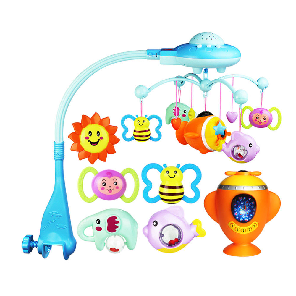 Friends Musical Mobile,Mobile Music Box Holder Baby Crib Bed Bell Children Infants Toy with Remote by
